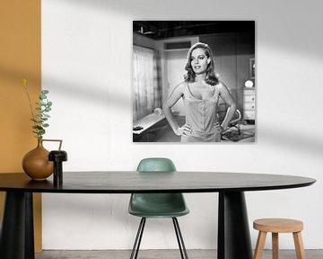 Romy Schneider zwart-wit (1970) van Bridgeman Images