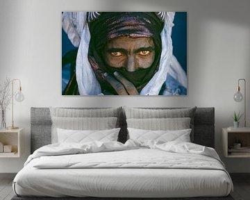 Sahara woestijn.  Portret van Toeareg man.