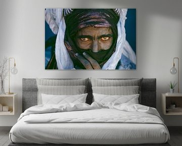 Le désert du Sahara.  Homme touareg. Portrait.