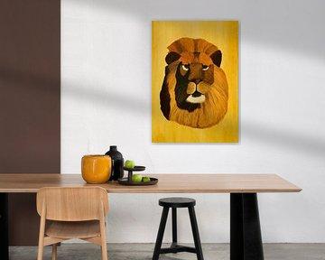 Löwe Portrait von Iris Heuer