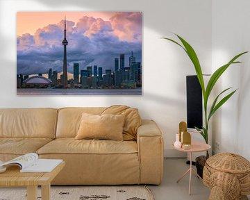 Wolken boven de Toronto Skyline van Henk Meijer Photography