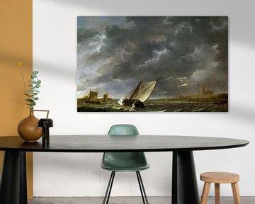 Aelbert Cuyp, Die Maes bei Dordrecht in einem Sturm