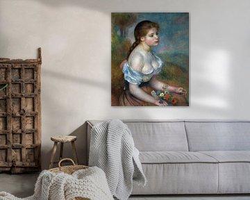 Auguste Renoir, Ein junges Mädchen mit Gänseblümchen - 1889