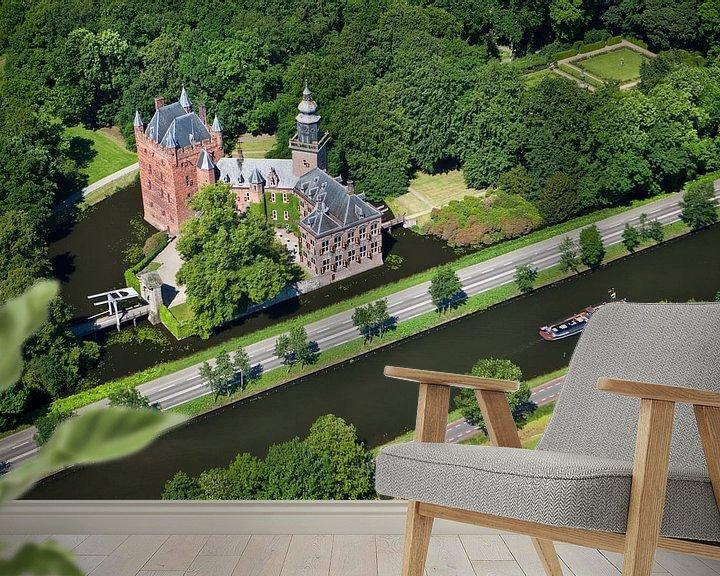 Impression: Vue aérienne du château de Nyenrode à Breukelen sur Frans Lemmens
