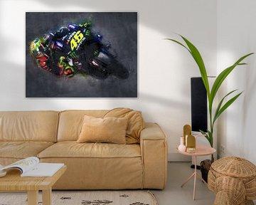 Valentino Rossi (Ölfarbe) 3 von 3 von Bert Hooijer