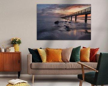 Sonnenaufgang an der Seebrücke, Kühlungsborn von Marc-Sven Kirsch