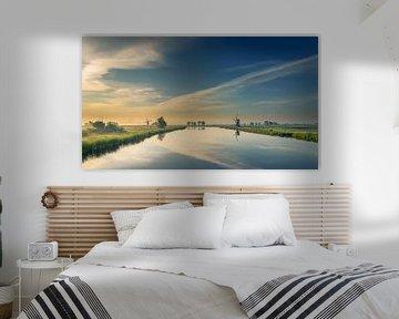 Polder ochtend  panorama uitzicht van Patrick Herzberg