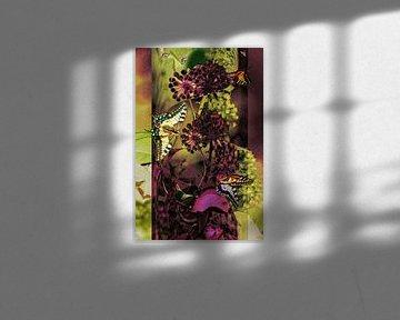 Collage - Schmetterlinge auf Efeu von Christine Nöhmeier