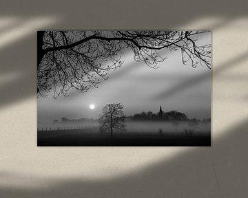 Nebliger Sonnenaufgang Pressungen von Henk Kersten