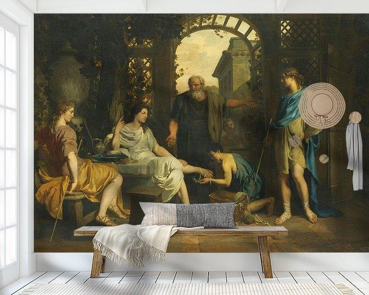 Beispiel fototapete: Abraham empfängt Engel, Gerard de Lairesse