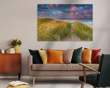 Zonsondergang aan het strand van Smit in Beeld