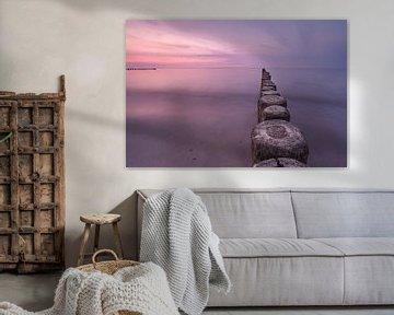 Der Steg bei Sonnenuntergang, Kühlungsborn von Marc-Sven Kirsch