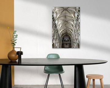 Detail der Kathedrale von Laon von Ellen van Schravendijk