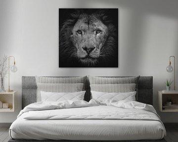 Porträt eines Löwen von Ellen van Schravendijk