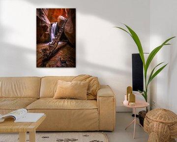 Canyon waterval van Remco van Adrichem