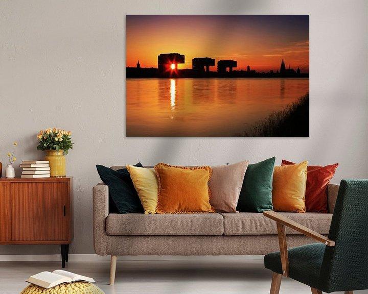 Sfeerimpressie: Keulen silhouet bij zonsondergang van Frank Herrmann