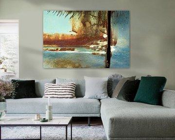 Abstract roest / strandtafereel van Alice Berkien-van Mil