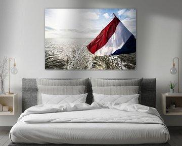 Nederlandse vlag op schip.