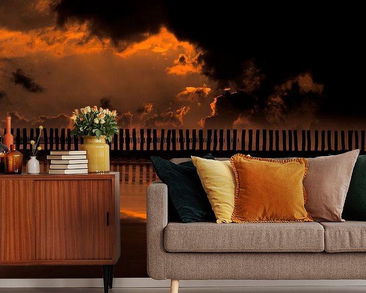 Sfeerimpressie behang: 0519 Evening in Zeeland van Adrien Hendrickx