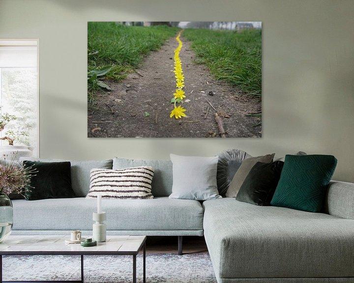 Sfeerimpressie: Gele lijn van Mies Heerma