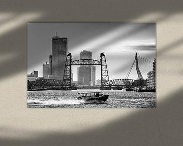 3 Rotterdamse bruggen (zwart wit) van Rick Van der Poorten