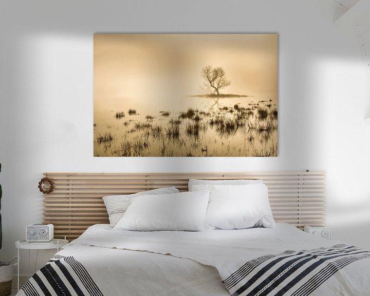 Beispiel: Torfmoor bei Morgennebel von Frans Lemmens