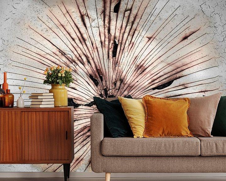 Sfeerimpressie behang: Roestbloem van Cor Ritmeester