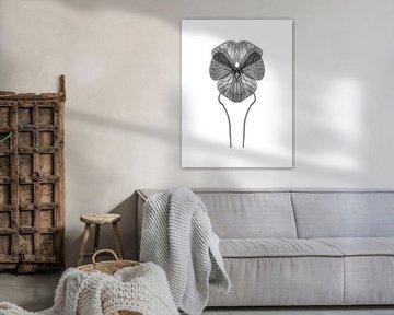 Symmetrisches Pflanzenblatt von Cor Ritmeester