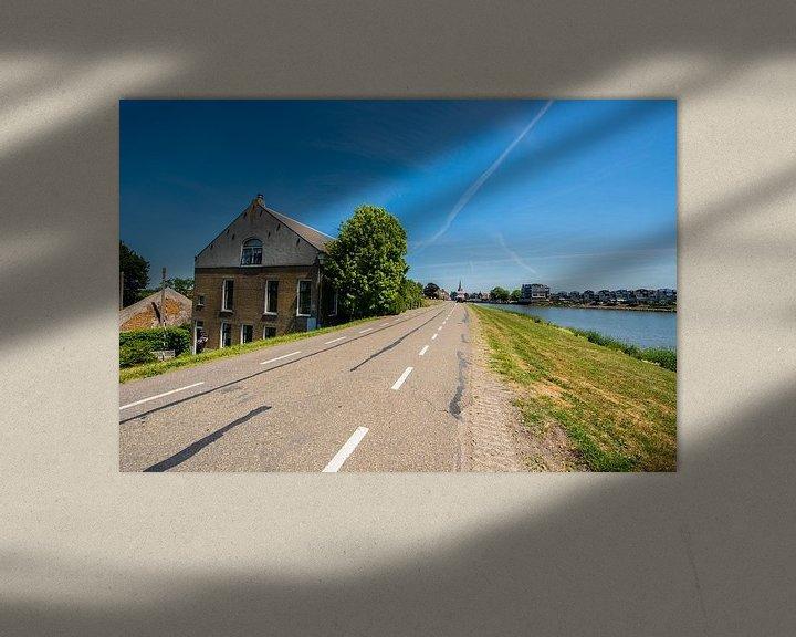 Sfeerimpressie: IJsseldijk bij Capelle ad IJssel. van Brian Morgan