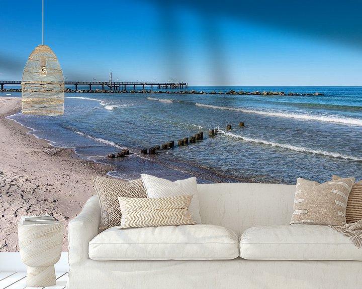 Beispiel fototapete: Seebrücke an der Ostseeküste in Wustrow von Rico Ködder