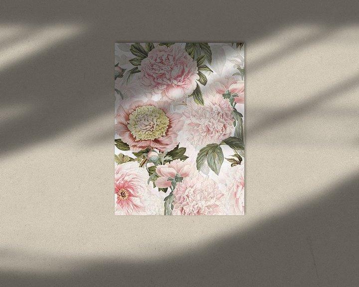 Beispiel: Pastel Vintage Pfingstrosen Muster von Uta Naumann