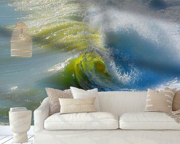 Sfeerimpressie behang: 1139 The eye of the wave van Adrien Hendrickx