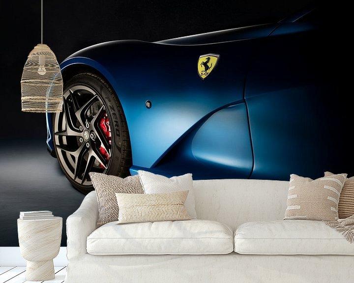 Sfeerimpressie behang: Ferrari 812 Superfast van Thomas Boudewijn