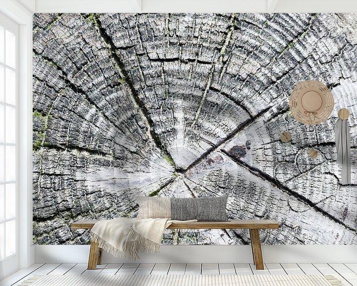 Sfeerimpressie behang: Strandpaal van Laura Loeve