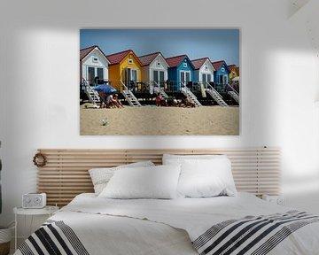 Strandhuisjes in Vlissingen von Alice Berkien-van Mil