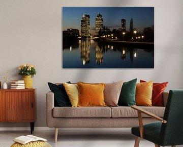 Amsterdam skyline van FotoBob