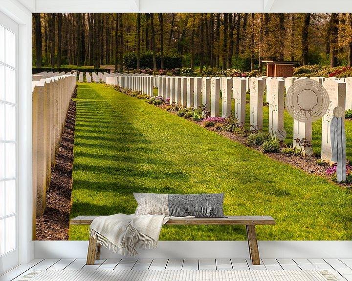Sfeerimpressie behang: Airborne War Cemetery van Brian Morgan