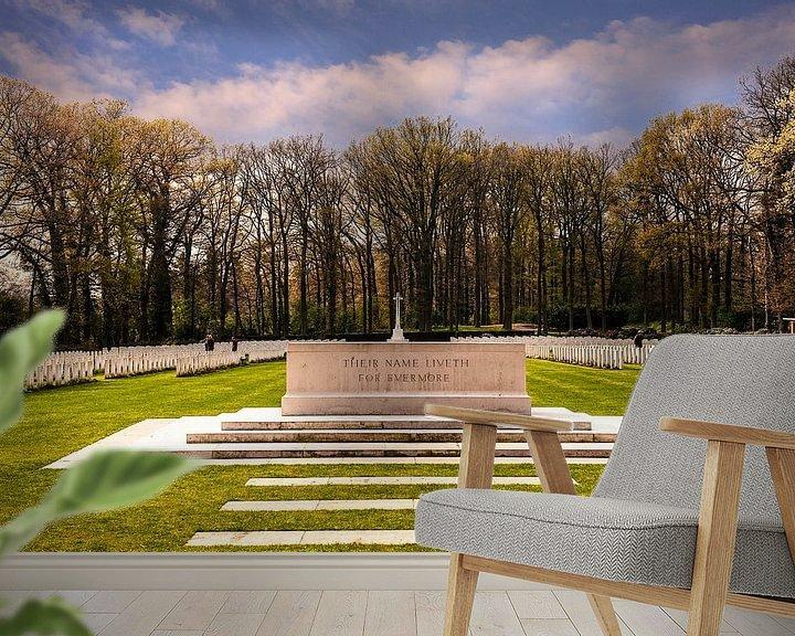 Sfeerimpressie behang: Airborne War Cemetery Netherlands van Brian Morgan