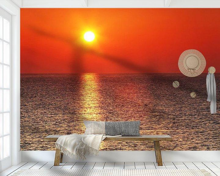 Beispiel fototapete: Sonnenuntergang am Meer von Frank Herrmann
