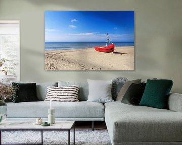Bateau de pêche sur la plage