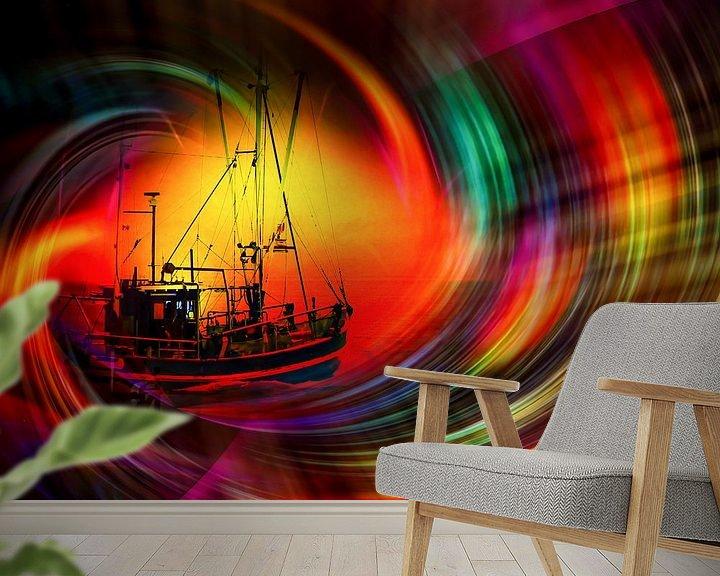 Sfeerimpressie behang: Onze wereld is een magische tijdtunnel van Walter Zettl