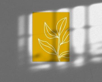 abstracte plant geel van Sophia Amend