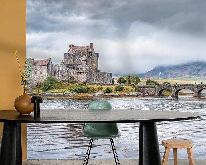 Beispiel fototapete: Eilean Donan Castle von Mart Houtman