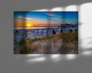 Zeebrug Ahlbeck bij zonsopgang van Tilo Grellmann | Photography