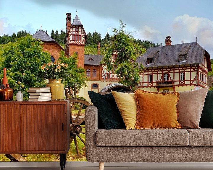 Sfeerimpressie behang: Avelsbach-wijnbouwgebied in Trier van Berthold Werner