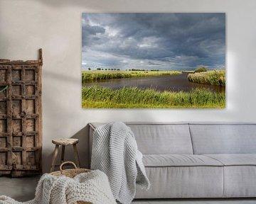Wolken landschap. van Anjo ten Kate