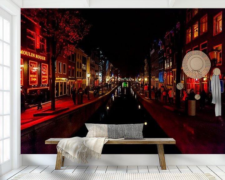 Beispiel fototapete: Rotlichtviertel Amsterdam von Brian Morgan