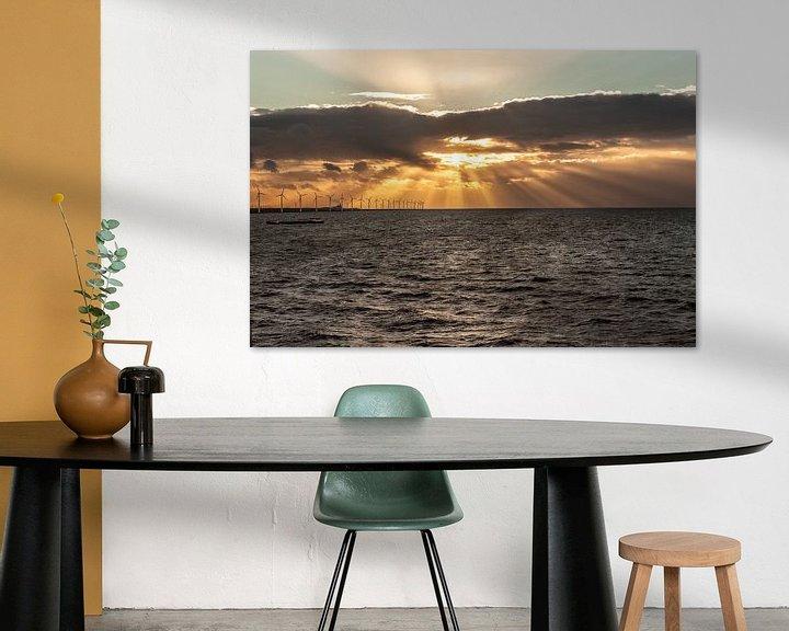 Sfeerimpressie: Avondlicht over het IJsselmeer van Brian Morgan
