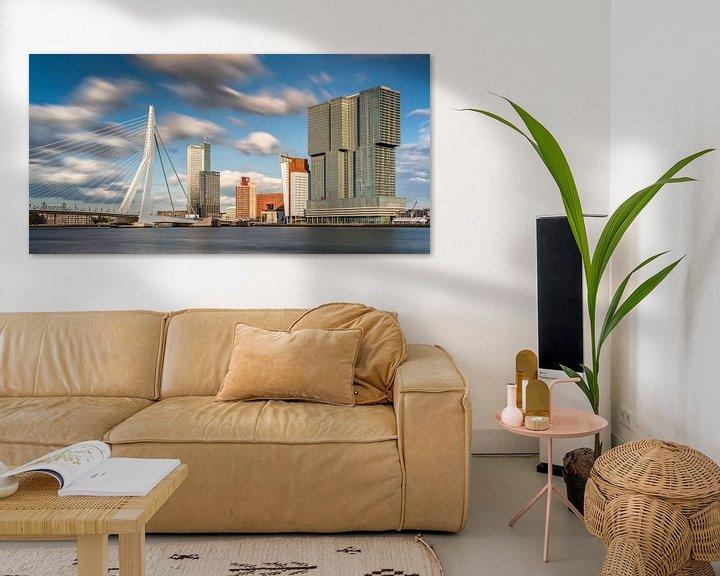 Impression: Skyline du Kop van Zuid et du pont Erasmus à Rotterdam sur Frans Lemmens