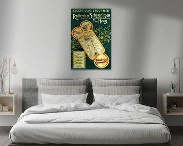 Plakat Rotterdam-Hofplein - Scheveningen-Kurhaus 1910